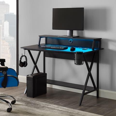 Linon Ezio LED Gaming Desk
