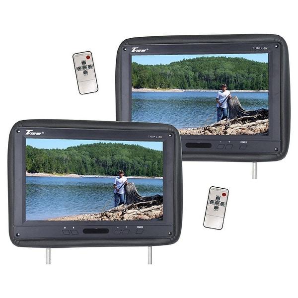 Tview t122pl-bk tview 12.1 headrest monitor ir transmitter remotes (2) black pair