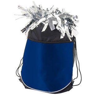 Pizzazz Girls Navy Blue Stringpack Pom Cheer Dance Backpack Bag - One size