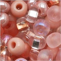 Czech Seed Beads 6/0 ''Rose Garden'' Pink Mix Lot (1 Ounce)