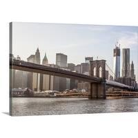 Premium Thick-Wrap Canvas entitled Brooklyn Bridge, New York - Multi-color