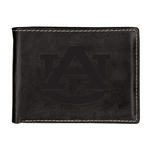 Auburn University Contrast Stitch Bifold Leather Wallet