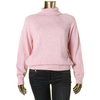 Karen Scott Womens Turtleneck Marled Pullover Sweater