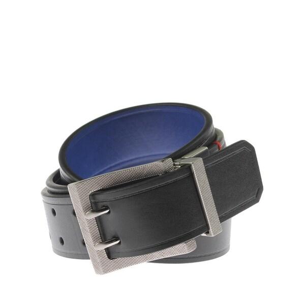 Robert Graham Mens Koa Casual Belt Faux Leather Reversible