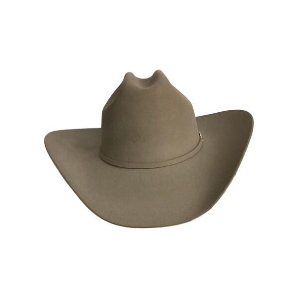 Shop Stetson Cowboy Hat Mens Lariat Cattleman 7 1 4 Silver - Free ... 5427116930a5