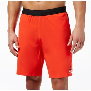Reebok NEW Red Mens Size Large L Drawstring Crossfit Athletic Shorts
