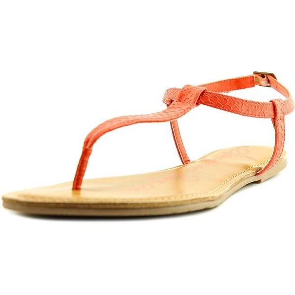 American Rag Krista Women Open Toe Synthetic Orange Thong Sandal
