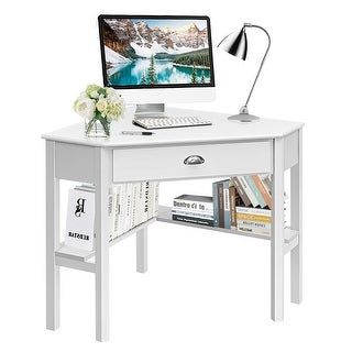 Link to Costway Corner Computer Desk Laptop Writing Table Wood Workstation Similar Items in Computer Desks