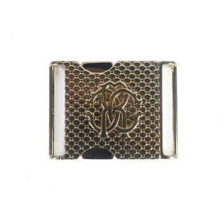 Roberto Cavalli Gold Push Lock Scaled Texture Belt Buckle
