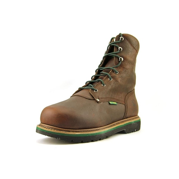 John Deere Met Guard Men Round Toe Leather Work Boot