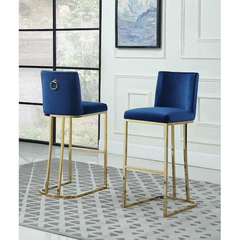 Best Quality Furniture Bar Stools with Gold Base (Set of 2)