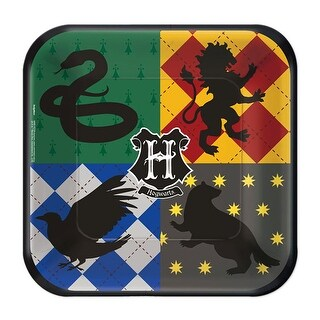 """Harry Potter 7"""" Square Paper Party Plates, 8-Pack - Multi"""