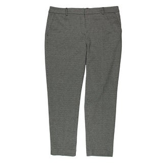 Jones New York Womens Grace Houndstooth Flat Front Trouser Pants - 12P