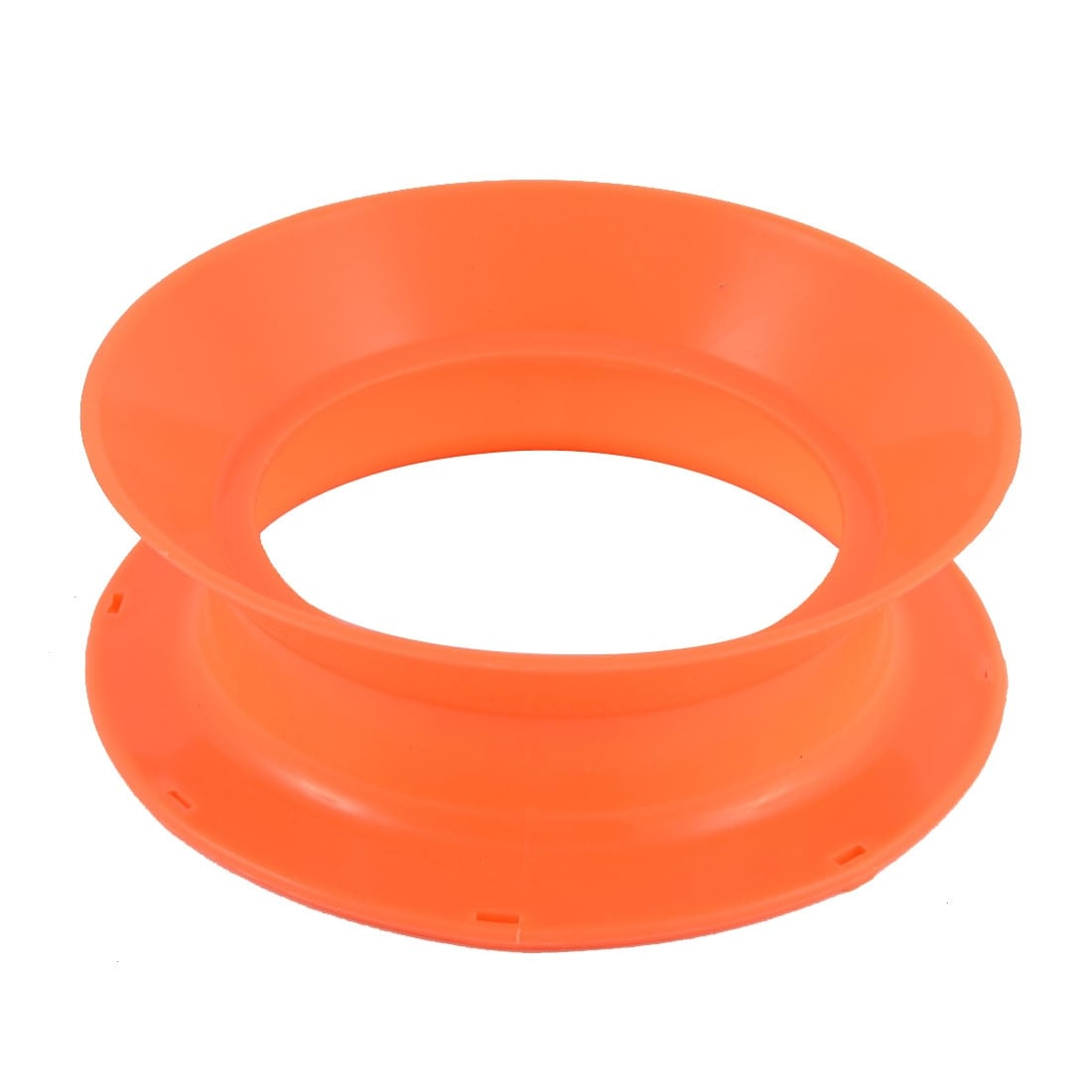 Plastic Fish Line Wire Bearing Fishing Spinning Reel Wheel 4 Inch Dia Orange