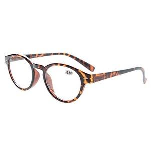 Eyekepper Retro Key Hole Oval Round Readers Spring-Hinges Reading Glasses Tortoise +1.75