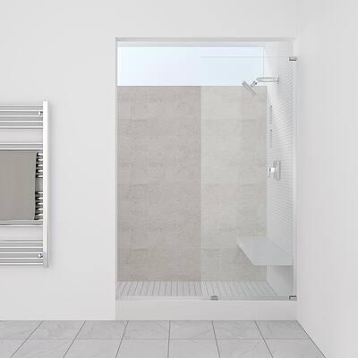 "Symphony Shower Doors 12.75"" x 76"" Single Panel Frameless Shower Screen"