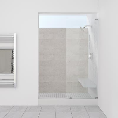 "Symphony Shower Doors 16.50"" x 76"" Single Panel Frameless Shower Screen"
