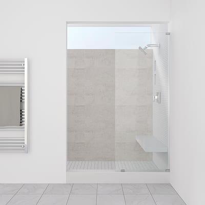 "Symphony Shower Doors 19.50"" x 80"" Single Panel Frameless Shower Screen"