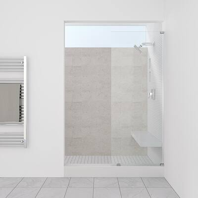 "Symphony Shower Doors 35.00"" x 76"" Single Panel Frameless Shower Screen"