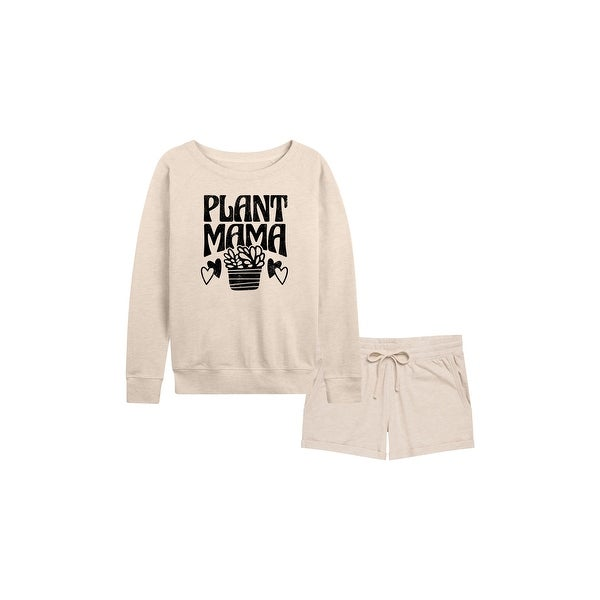 Plant Mama - Women's French Terry Shorts Set - Birch. Opens flyout.