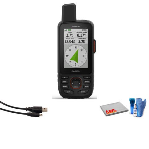 Garmin GPSMAP 66i Handheld Navigator and Satellite Communicator Bundle with Cleaning Kit