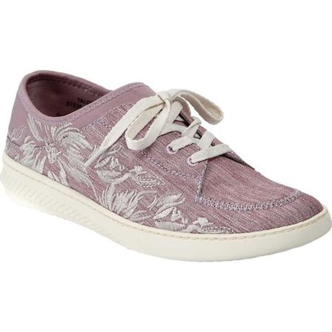 Bare Traps Women's Yalora Embroidered Sneaker Mauve Jane Fabric
