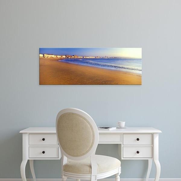 Easy Art Prints Panoramic Images's 'Beach, Weymouth, Dorset, England' Premium Canvas Art