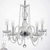 Crystal Chandelier Lighting With Candle Votives For Indoor/Outdoor Use