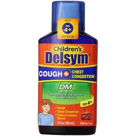 Delsym Children's Liquid Cough + Chest Congestion DM, Cherry, 6 oz