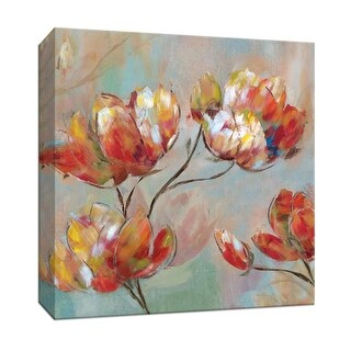 "PTM Images 9-147029  PTM Canvas Collection 12"" x 12"" - ""Splashy Spring II"" Giclee Flowers Art Print on Canvas"