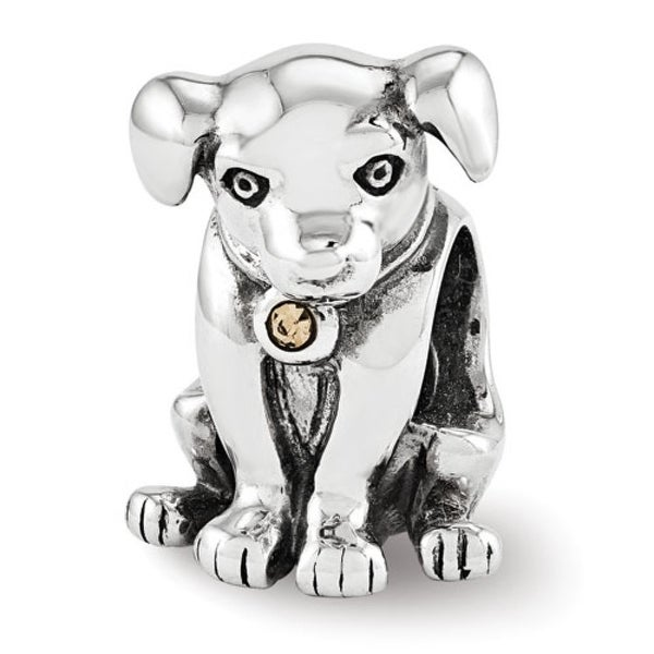 Sterling Silver Reflections Lab Puppy Bead (4mm Diameter Hole)