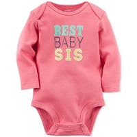 Carter's Baby Girl Long Sleeves Bodysuit