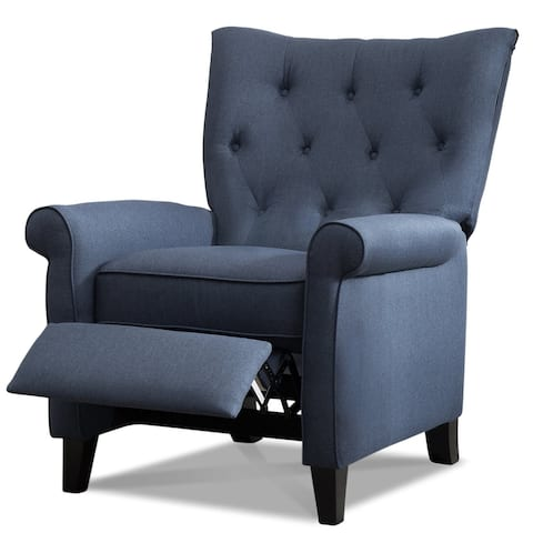 Push Back Recliners Compact Roll Arm Wingback Accent Chairs for Living Room