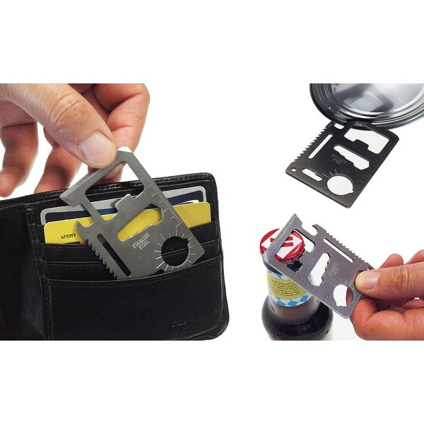 Weekend Warrior 12 in 1 Wallet Multi Tool -2 Pack