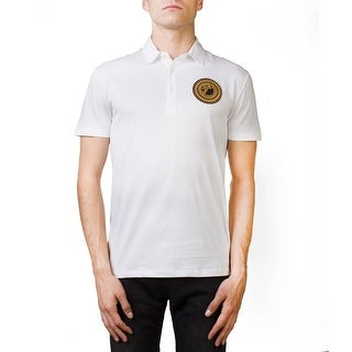Versace Collection Men's Regular Fit Pima Polo Shirt White