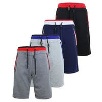 Men's French Terry Sweat Shorts W Contrast Waistband