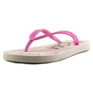 Betsey Johnson Amy Women  Open Toe Synthetic Pink Flip Flop Sandal