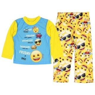 Emoji Boys' Expressions 2-Piece Pajama Set