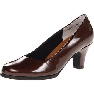 Walking Cradles Womens Cabby Patent Round Toe Pumps - 9.5 wide (c,d,w)