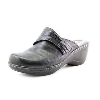 Softwalk Mason N/S Round Toe Leather Clogs