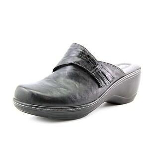 Softwalk Mason WW Round Toe Leather Mules