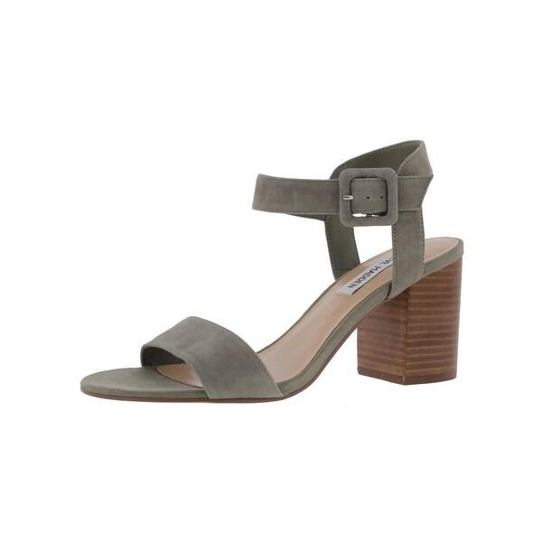 Steve Madden Womens Divine Dress Sandals Suede Stacked Heel