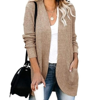 Link to Open Front Knit Cardigan Sweaters With Pockets Similar Items in Shirts