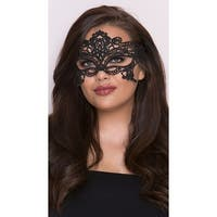 Embroidered Venice Eye Mask, Black Eye Mask - One Size Fits Most