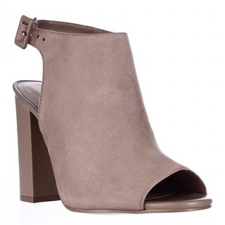 Aldo Juliusa Peep Toe Ankle Strap Mule Sandals - Natural
