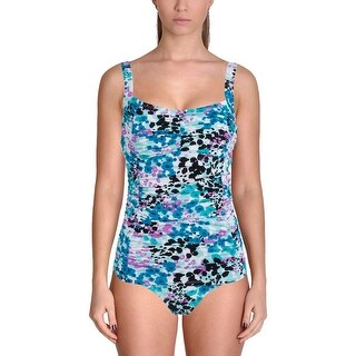 It Figures! Womens Sweetheart Printed Underwire One-Piece Swimsuit