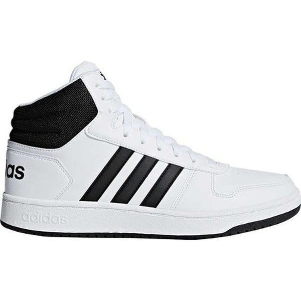 Shop adidas Men's Hoops 2.0 Mid Basketball Shoe WhiteBlack