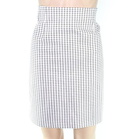 Amanda + Chelsea Womens Skirt White Ivory Size PXL Straight Pencil