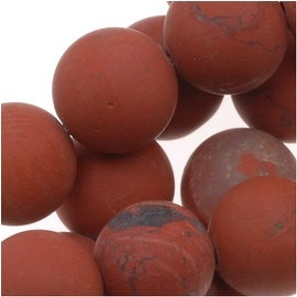 Matte Dark Red Jasper Round Gemstone Beads 8mm (15.5 Inch Strand)
