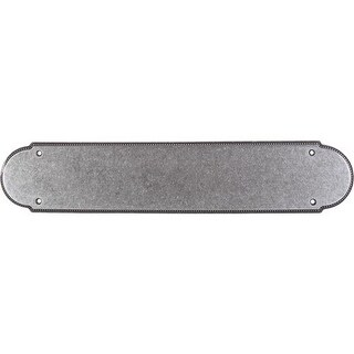 Top Knobs M896 Appliance Collection 15 Inch Pewter Beaded Push Plate